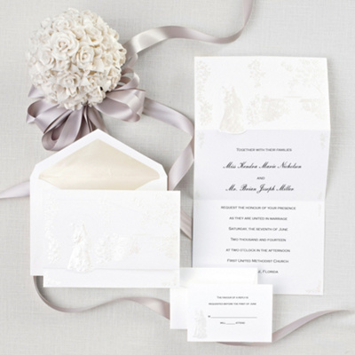 Always Devoted Wedding Invitation                    (was $119.95 for 100)