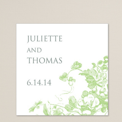 Antique Blossoms Square Labels