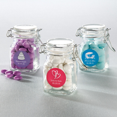 Apothecary Jar Favor with Personalized Label