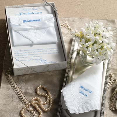 Attendant Handkerchiefs Maid of Honor