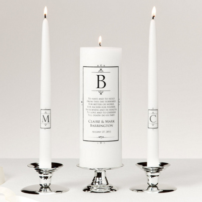 Black Crown Unity Candle Set