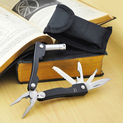 Wedding Party Gifts Knives : Exclusively Weddings Black Multi Tool for Groomsmen