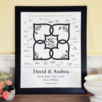 Blended Family Canvas Signature Guest Book