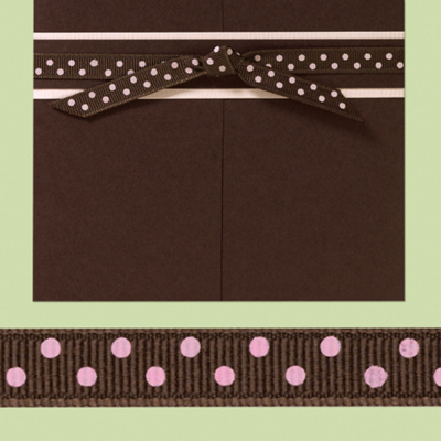 3/8&#34; Brown &#38; Pink Pre-Cut Grosgrain Wedding Ribbon (was $14.95 each)