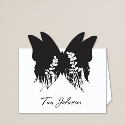 Butterfly Kisses Wedding Place Card
