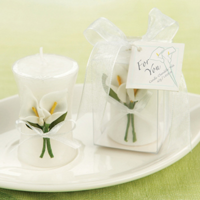 Calla Lily Candle Wedding Favor