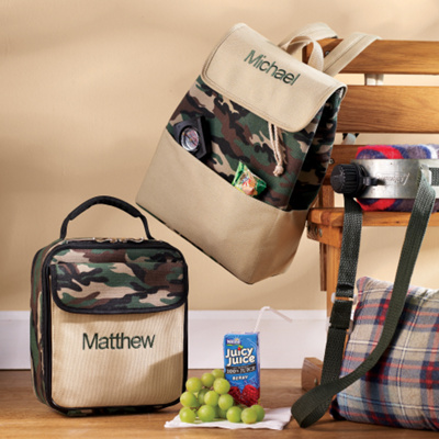 Camo Lunch Tote for Ring Bearer