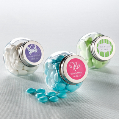 Candy Jar Favor with Personalized Label