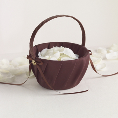 Chocolate Flower Girl Basket