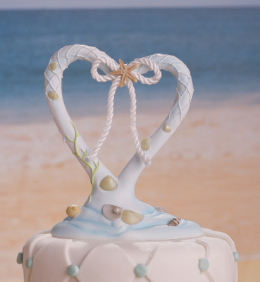 Coastal Mist Wedding Cake Topper