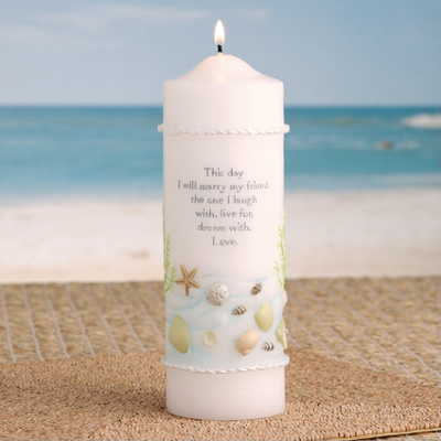 Coastal Mist Wedding Unity Candle