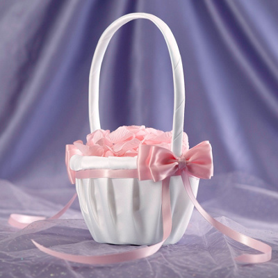 Colorful Bow Flower Girl Basket
