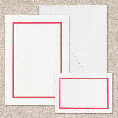 Colorful Chic - Hot Pink Bright White DIY Invitation Kit