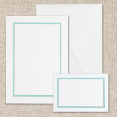 Colorful Chic - Tropical Blue Bright White DIY Invitation Kit