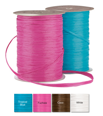 Colorful Raffia Ribbon For Wedding Invitations - 4 Colors  (was $6.95 each)