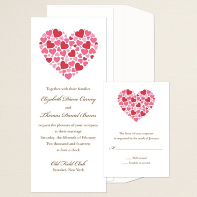 Contemporary Heart Wedding Invitation