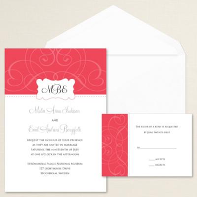 Contemporary Scroll Wedding Invitation