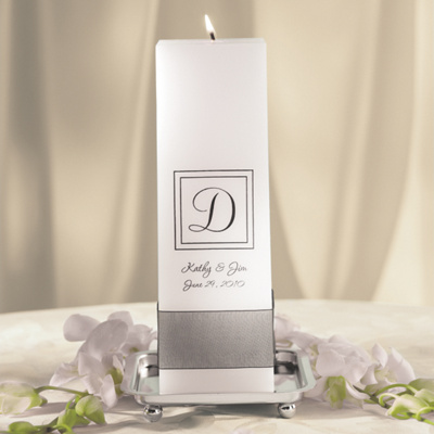 Contemporary Wedding Unity Candle