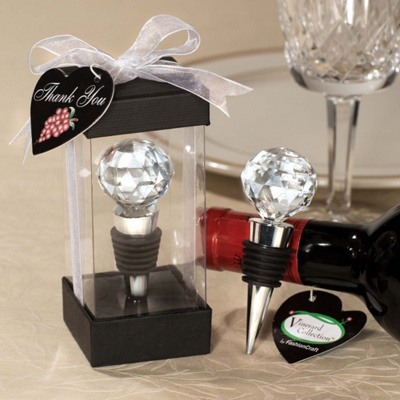 Crystal Ball Wine Stopper Favor