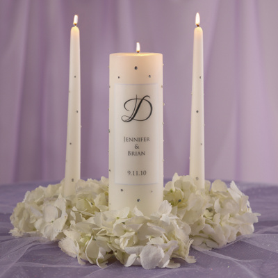 Crystal Wedding Unity Candle