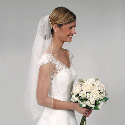 Curly Edge Wedding Veil