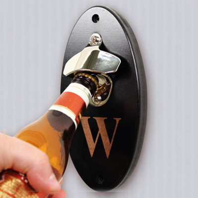 exclusively weddings custom wall mounted bottle opener. Black Bedroom Furniture Sets. Home Design Ideas