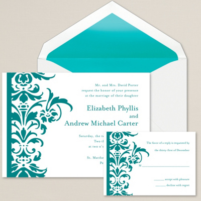 Sophisticated Wedding Invitations with nice invitation sample