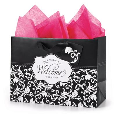 Wedding Reception Gift Bag Ideas : Damask Wedding Weekend Gift Bag Set Wedding Favors