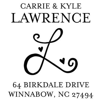 Decorative Initial Return Address Personalized Stamp - Exclusive