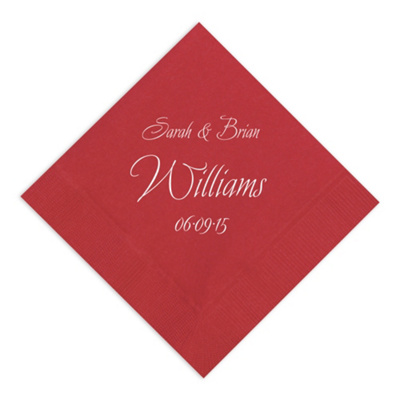 Decorative Names Napkin