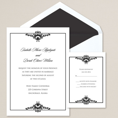 Elegant Flourish Wedding Invitation
