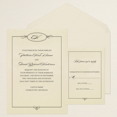 Elegant Monogram Wedding Invitations Elegant Monogram Wedding