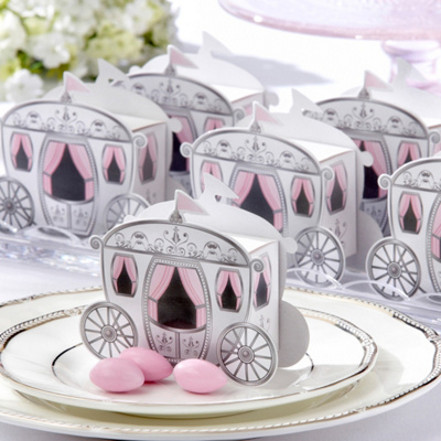 Enchanted Carriage Wedding Favor Boxes