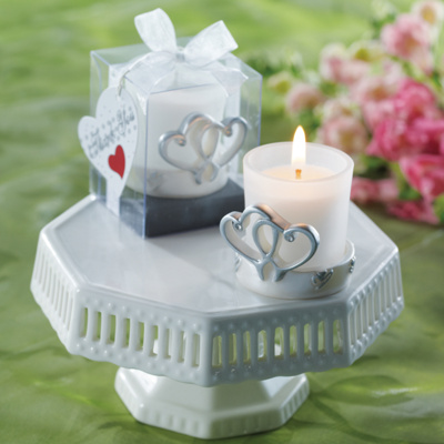 Hearts Votive Candle Wedding Favor