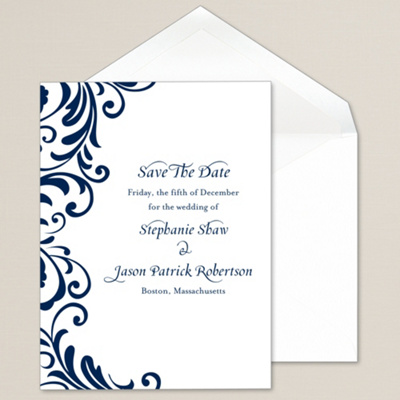 Ever After Save The Date Card