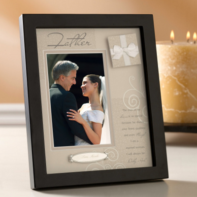 Personalized Shadow Box Frame for the Father of the Bride