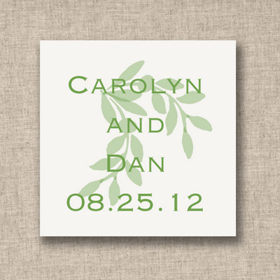 Elegant Branch Wedding Favor Tags