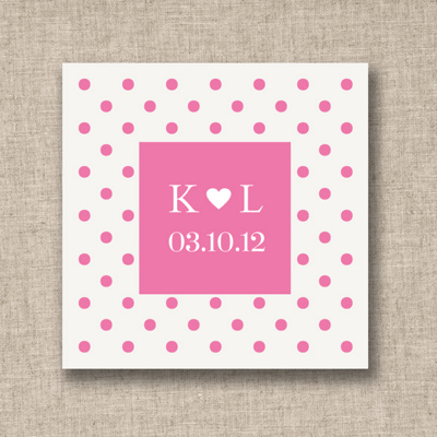 Fun Dots Wedding Favor Tags