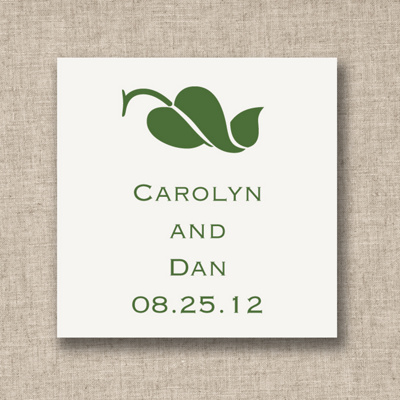 Leaf of Love Wedding Favor Tags