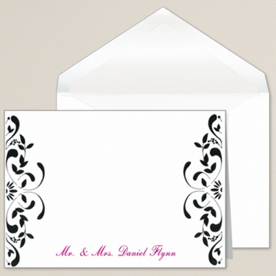 Filigree Elegance Thank You Note