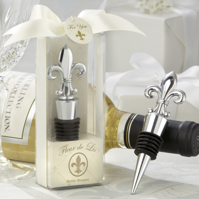 Fleur-de-lis Bottle Stopper Wedding Favor
