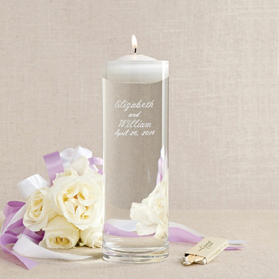 Floating Wedding Unity Candle and Vase