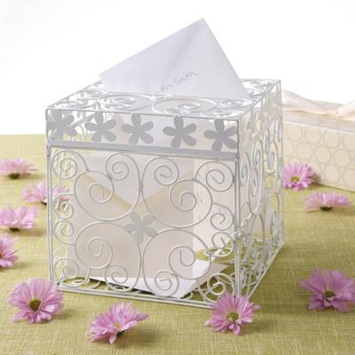 Wedding Gift Envelope Containers : Floral Design Wedding Gift Card Box Keepsake for Money Envelopes