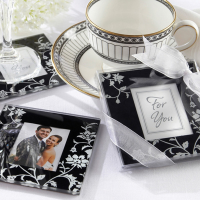 Floral Coaster Wedding Favor