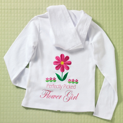 Personalized Flower Girl Hoodie