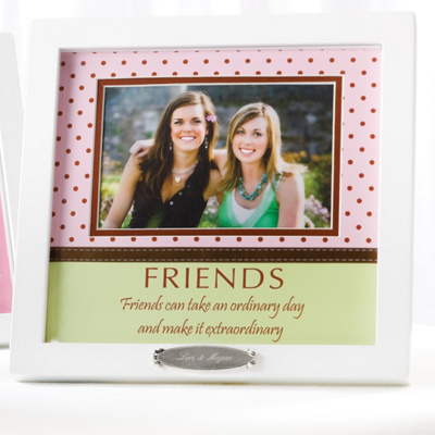 Friends Polka Dot Wedding Picture Frame