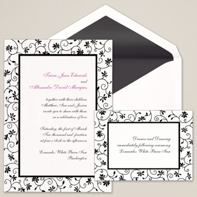 Garden Party Wedding Invitation                        (was $94.95 for 100)