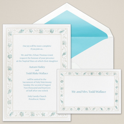 Gathering Sea Shells Wedding Invitation