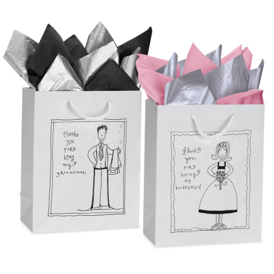 Thank You Gifts Wedding Attendants : Gift Bags for Attendants Gifts - Set of 5 for Bridesmaids