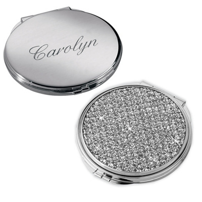 Glitter Galore Engraved Compact for Bridesmaids